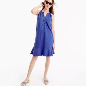 ✨J.CREW✨ NEW FLUTTER HEM COBALT BLUE DRESS